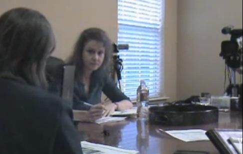 Mary Cummins, Animal Advocates, Los Angeles, California, deposing Amanda Lollar of Bat World Sanctuary